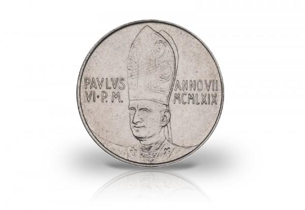 100 Lire 1969 Vatikan Papst Paul VI. 4 Sterne in Kreuzform