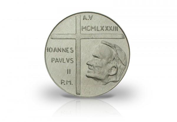50 Lire 1983 Vatikan Papst Paul II. Vertreibung von Adam und Eva