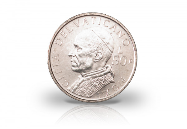 50 Lire 2001 Vatikan Papst Johannes Paul II. Pius XII.
