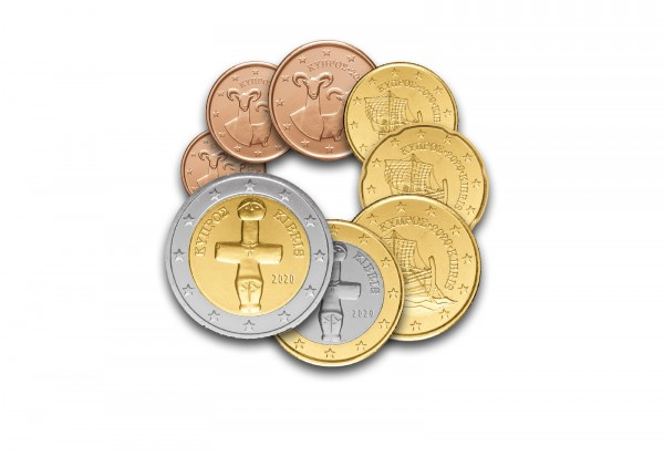 Kursmünzensatz 2020 Zypern