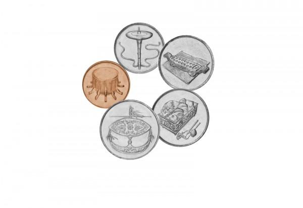 Malaysia Münzsatz 5 Münzen 1-50 Sen