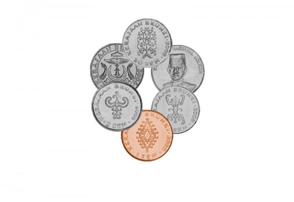 Münzensatz des Sultans Brunei