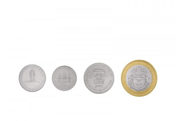 Kambodscha Münzsatz 50 Riels - 500 Riels 4 Münzen