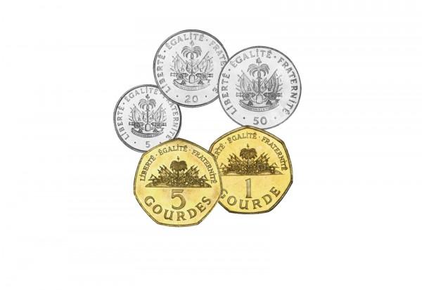 Münzsatz Haiti 5 Centimes - 5 Gourdes