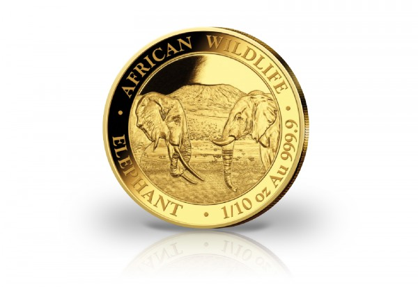 African Wildlife Serie 1/10 oz Gold 2020 Somalia