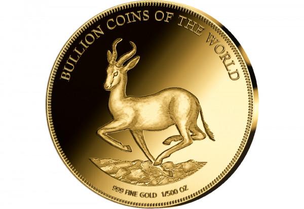 Goldmünze Motiv Krügerrand Springbock 2019 Bullion Coins of the World