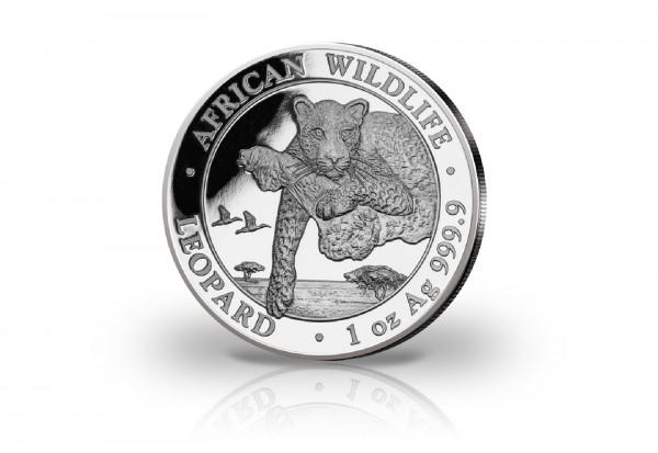 African Wildlife Serie 1 oz Silber 2020 Somalia Leopard