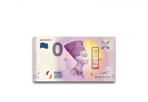 0 Euro Banknote Ägypten Nofretete
