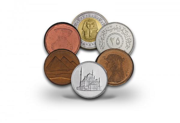 Worldcoinsatz Ägypten Prestige Münzsatz veredelt mit Gold und Rhodium