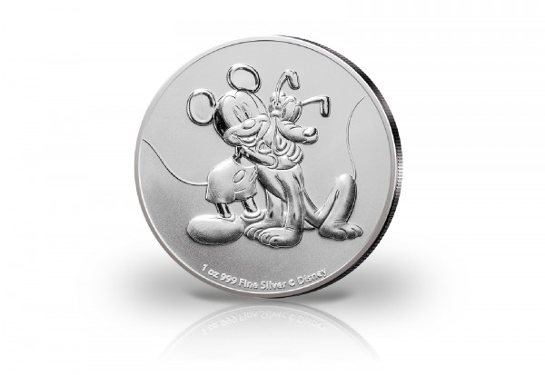 Disneys Mickey und Pluto 1 oz Silber 2020
