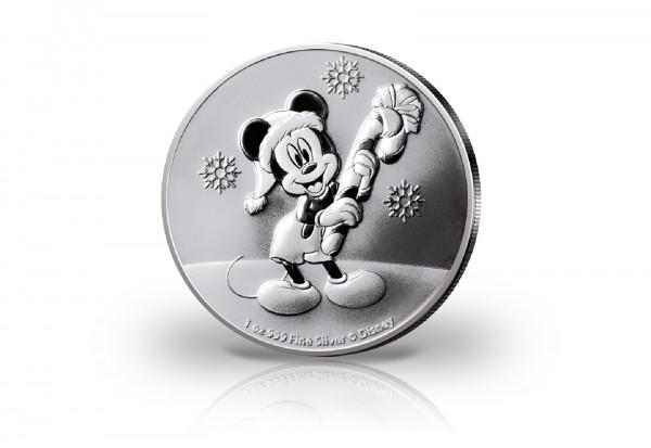 Disneys Mickey Mouse Christmas 1 oz Silber 2020