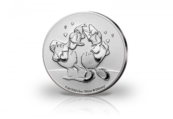 Disneys Donald und Daisy 1 oz Silber 2021