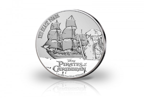 Disneys Fluch der Karibik The Black Pearl 1 oz Silber 2021