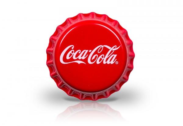 Coca-Cola Silbermünze in Kronkorken-Form