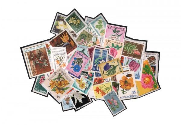 50 Briefmarken - Motive Rose