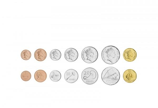 Weltmünzsatz Fiji 1 Cent - 1 Dollar 7 Münzen