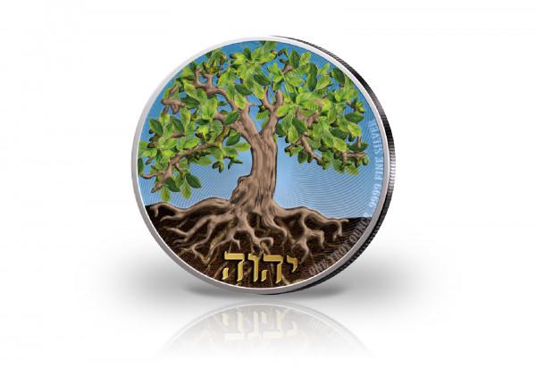 Tree of Life 1 oz Silber 2020 mit Farbapplikation