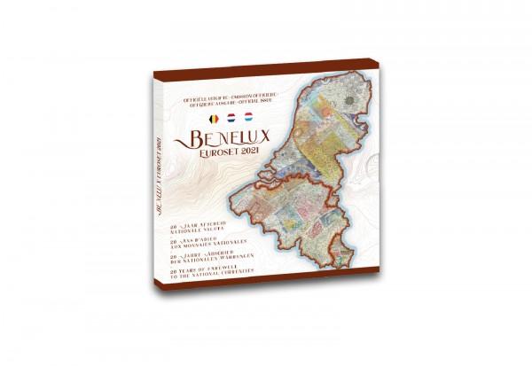 Kursmünzensätze 2021 Benelux st im Blister