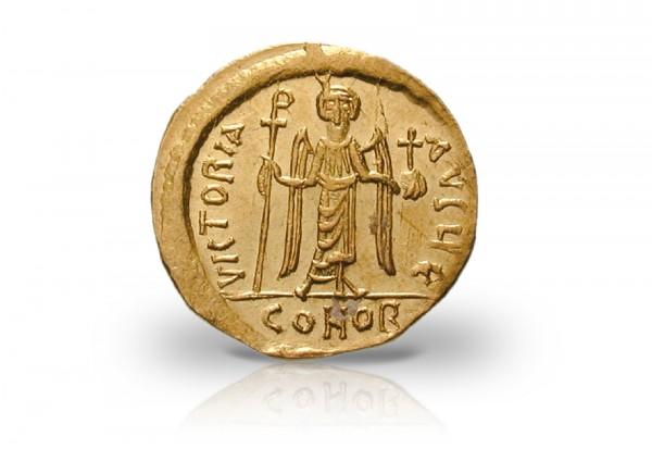 Solidus Goldmünze 602-610 Byzanz Kaiser Phocas vz