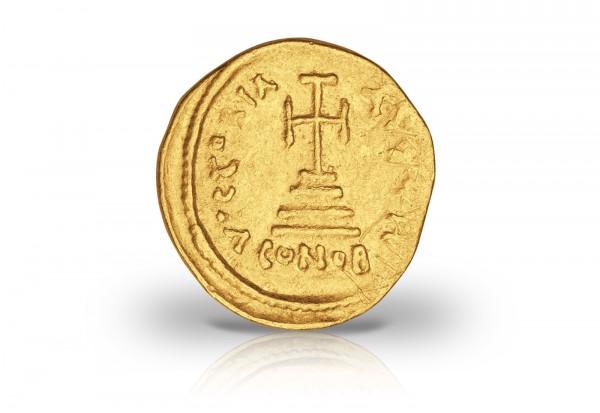 Solidus Goldmünze 610-641 Byzanz Büste Heraclius und Sohn ss