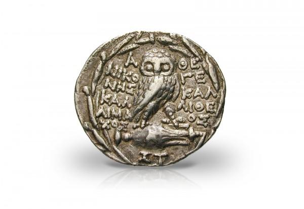 Tetradrachme 57 v. Chr. Athen Eule ss