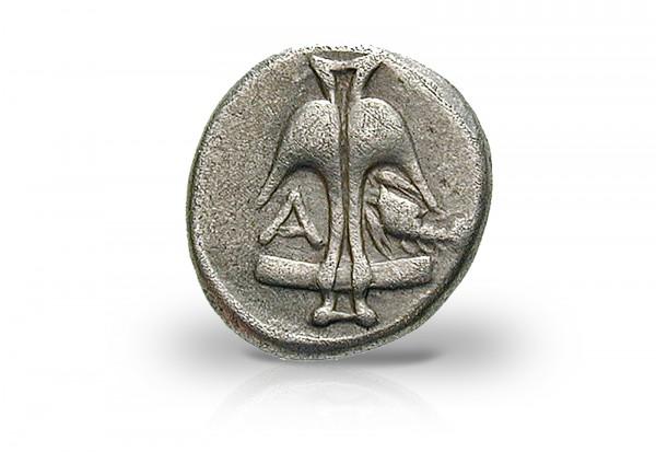 Thrakien Apollonia Pontika Medusa 410-350 v. Chr Drachme Silber