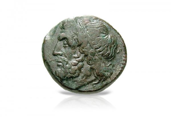 Syrakus Bronze Münze 274-216 v.Chr. Sizilien Poseidon ss