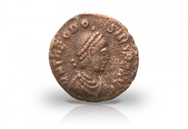 1/2 Centenionalis Bronzemünze Römisches Kaiserreich 379-395 ss