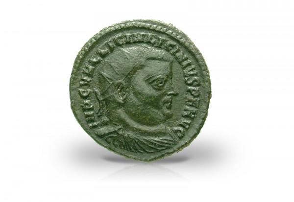 Römische Kaiserzeit 308-324 Licinius I. Follis Portrait AE