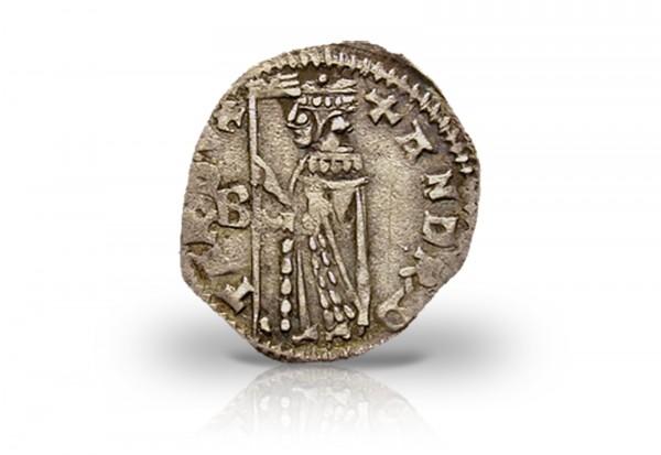 Soldino Nuovo Silbermünze 1368-1382 Venedig ss