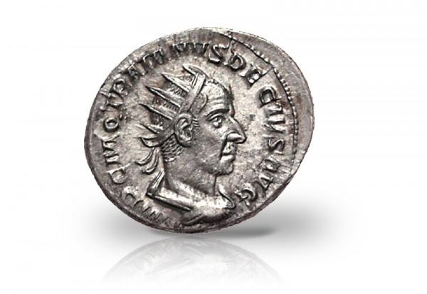 Antoninian Silbermünze 249-251 Römisches Kaiserreich Trianus Decius ss/vz