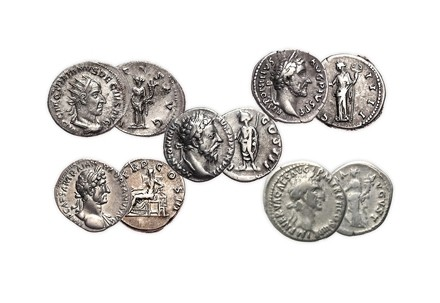 Kollektion 5 Römischen Kaiser in Kassette mit Zertifikat ss