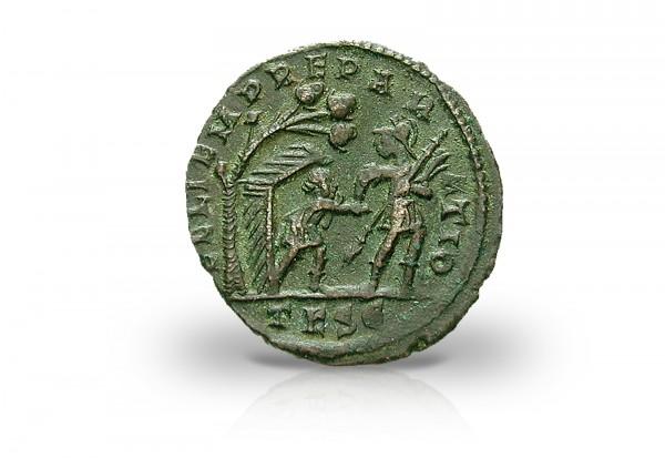 Röm.Kaiserzeit 337-361 Die Umsiedlung der Franken Constantius II., AE 4g ø21mm
