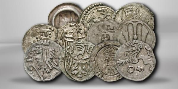 Schlesien Heller Silbermünzen aus dem 15. Jh. ss