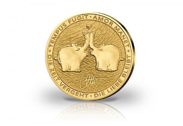 Küssende Ottifanten 1 oz Gold 2021