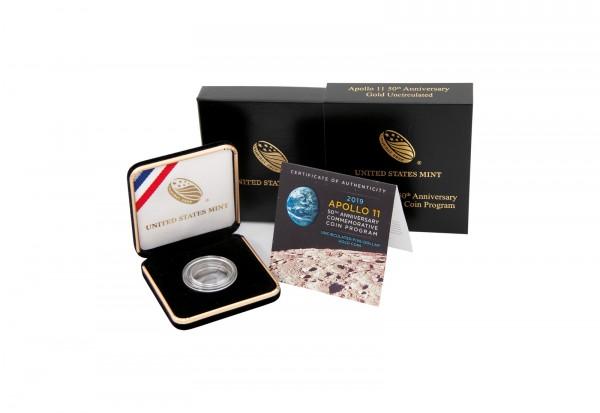 Münzetui United States Mint 50 Jahre Mondlandung