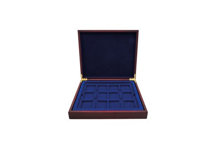 Münzkassette inkl. 1 Tableau für 12 x Quadratische Kapseln (Raum für weitere 2 Tableaus)