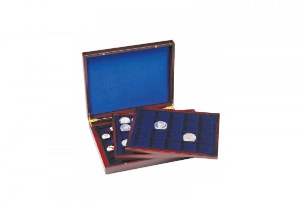 Münzkassette VOLTERRA TRIO deLuxe, mit eckigen Fächern für Münzen mit 30mm, 39mm, 48mm Ø