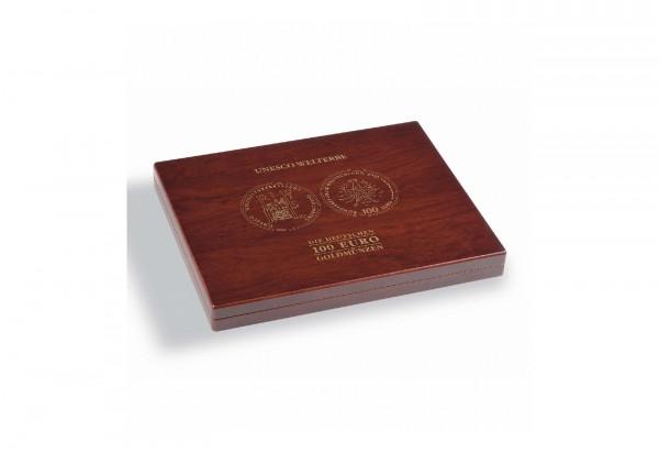 Münzkassette VOLTERRA für 35 dt. 100-Euro-Goldmünzen UNESCO Welterbe in Originalkapseln