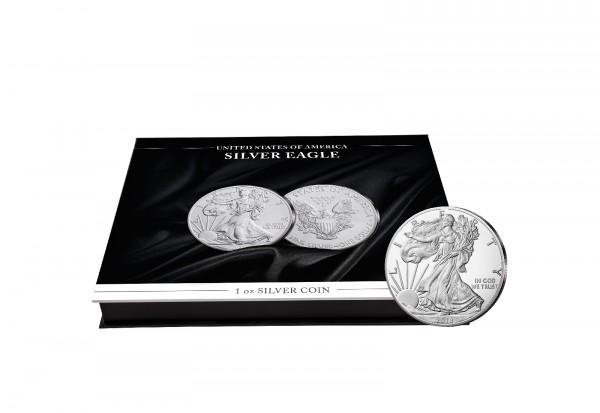 Münzkassette für 20x 1 oz US Silver Eagle