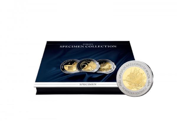 Münzkassette für 35x Bimetall-Proben