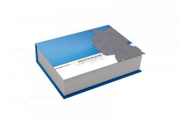 Hochwertige Kassette für 5 x BRD 10 Euro In der Luft 2018 mit Beleuchtung