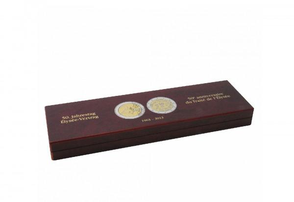 Leuchtturm Münzetui VOLTERRA für 6x 2 Euro Gedenkmünzen 50. Jahrestag Elysee-Vertrag