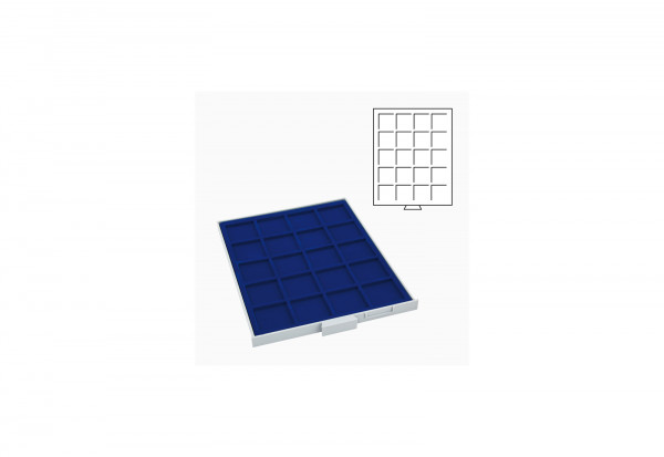 Stapelbox mit 20 Fächer bis Durchmesser 48 mm