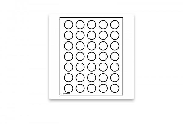 Münzbox LIGNUM, 35 runde Fächer bis 32,5 mm Ø