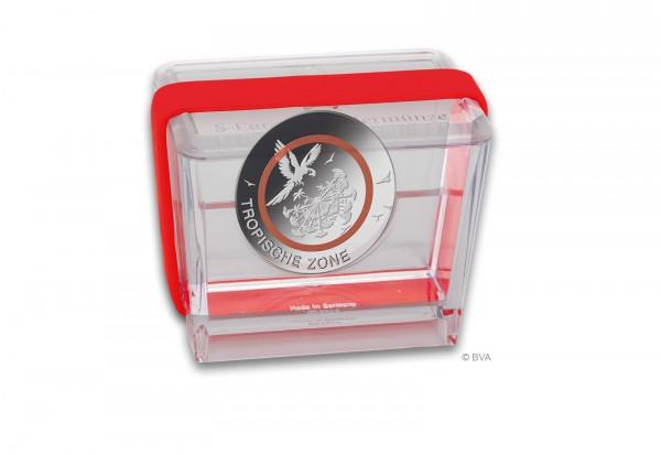 Original Präsentationsbox BRD 5 Euro PP Tropische Zone mit rotem Band