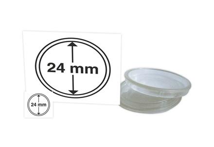 Münzkapseln 10er-Paket LEUCHTTURM 24,3mm CAP24