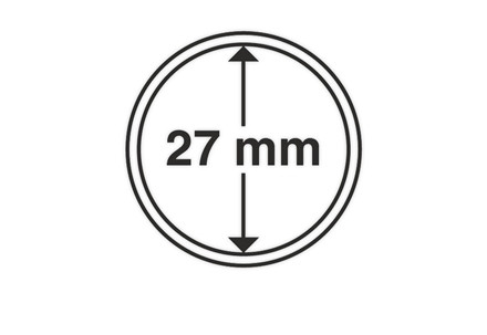 10 LEUCHTTURM Münzkapseln Cap27 mit 27mm Innendurchmesser