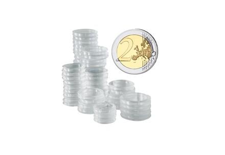 100 Kapseln für 2 Euro Münzen