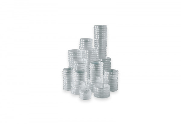 50 Kapseln für BRD 5 Euro Münze mit Polymerring